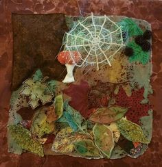Autumn - applique with lutradur, stump work and embroidery using water soluble fabric Textile Courses, Water Soluble Fabric, Jacobean, Art Dolls, Applique, Textiles, Autumn, 3d, Embroidery