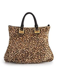 Tote bag, leopard print