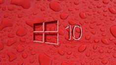 Windows 10 Water Drops Wallpaper