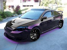 black and purple scion tc   2007 Scion tC
