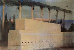 Csontváry Áldozati kő Baalbekben