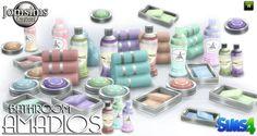 Lana CC Finds - Amadios bathroom Decor by JomSims