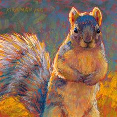 """Daily Paintworks - """"Got Nuts? And Workshop Heads-u..."""" by Rita Kirkman"""