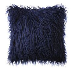 Pillow With Insert Phantoscope Decorative New Luxury Series Merino Style Multiple Color Navy Blue Fur Throw Pillow Cushion x (Pillow With Insert) Navy Blue Rooms, Blue Bedroom, Navy Blue Decor, Fluffy Pillows, Bed Pillows, Decor Pillows, Bed Sofa, Daybed, Couch