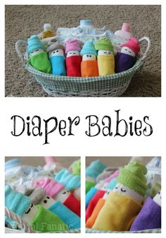 Check out these adorable diaper babies! These make the perfect baby shower gift idea and you can use items from the registry.