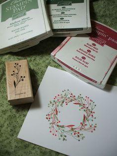 Photo Tutorial: Wreath using single stamp....Cute