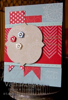 Stampin' Up!, Border Banter, Snowflake Soiree, Winter Card