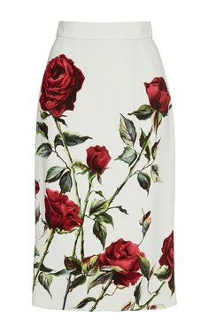 Gonna Rose Printed Pencil Skirt by Dolce
