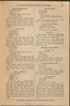 1930 - 23 | The Magic Cook Book | Published by Standard Brands Limited, Gillette Products, Canada