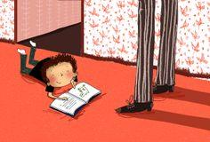 Little reader / Pequeño lector (ilustración de Clare Elsom)
