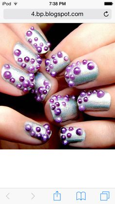 It's like bubbles under the sea!! If u wanna know how to do cool 3-D nails or nails at all comment:tmm love these