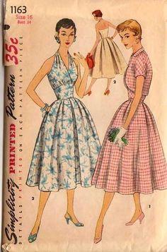 vintage 1950s or early 1960s Summer ensemble / Sundress and Bolero jacket