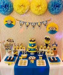 Minion Despicable Me birthday party! See more party planning ideas at !Amazing Minion Despicable Me birthday party! See more party planning ideas at ! Minions Birthday Theme, Minion Party Theme, Despicable Me Party, 4th Birthday Parties, Boy Birthday, Bday Party Ideas, Birthday Table, Party Party, Birthday Ideas