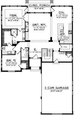 Southwest Plan: Square Feet, 2 Bedrooms, 2 Bathrooms - - Home - Home Design Best House Plans, Dream House Plans, Small House Plans, House Floor Plans, Modular Floor Plans, 2 Bedroom House Plans, Basement House Plans, Garage Apartment Plans, Courtyard House