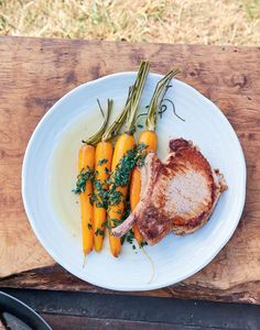 Pork with Vichy carrots recipe from James Martin's French Adventure by James Martin | Cooked