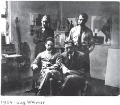 Hungarians at the Bauhaus. Bortnyik Sandor, Forbat Alfred, Molnar Farkas and Marcell Breuer in Dessau in 1924