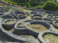 Castro celta del Monte Santa Tecla, en Pontevedra, Spain, Galicia