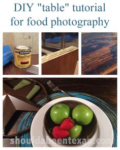 DIY table tutorial for food styling and photography