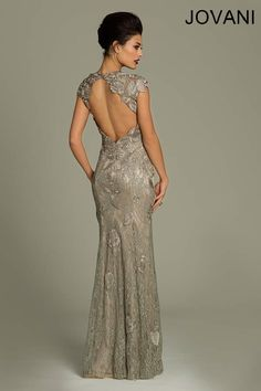 Backless mother of the bride dress