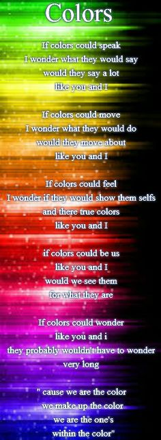 Colors - All types of Poetry