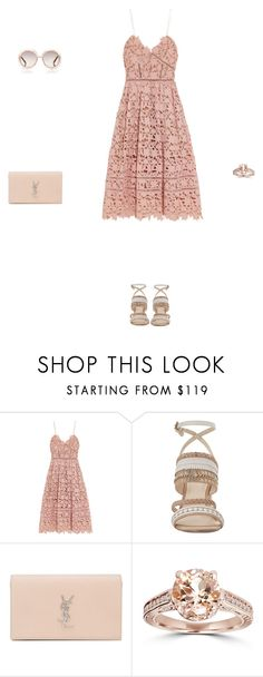 """""""13 * 05 * 2016"""" by isabellarochin ❤ liked on Polyvore featuring self-portrait, Nine West, Yves Saint Laurent, Bliss Diamond and Chloé"""
