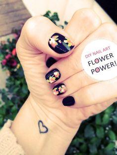 DIY Floral Nail Art DIY Nails Art
