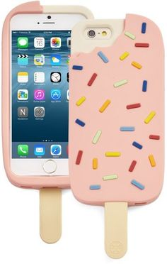 Cell Phone Cases - Tory Burch 'Ice Cream' iPhone 6 & Case available at - Welcome to the Cell Phone Cases Store, where you'll find great prices on a wide range of different cases for your cell phone (IPhone - Samsung) Diy Phone Case, Cute Phone Cases, Iphone Phone Cases, Phone Covers, Coque Iphone 5c, Tory Burch, Accessoires Iphone, Cool Cases, Phone Cases