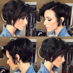 New Short Haircuts, Long Pixie Hairstyles, Short Haircut Styles, Chic Hairstyles, Hairstyles With Bangs, Hairstyle Ideas, Gorgeous Hairstyles, Bob Haircuts, Updo Hairstyle