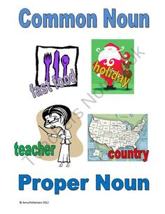 Common Noun, Proper Noun from Teach, Learn, & Love on TeachersNotebook.com (6 pages)  - Have fun practicing naming common nouns and proper nouns