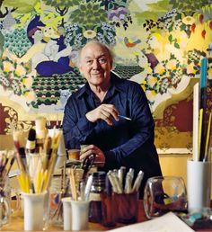 Bjorn Wiinblad in his studio Artist Art, Artist At Work, Monet, Statues, Stig Lindberg, Scandinavian Art, Portraits, China Art, Ceramic Artists