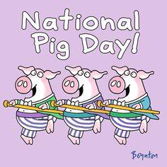 Famous Cartoons, Cool Cartoons, Disney Pig, National Pig Day, National Holidays, Peppa Pig Family, Happy Pig, Sandra Boynton, Pig Art