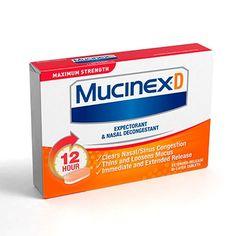 Reckitt Benckiser Mucinex D Expectorant & Nasal ...
