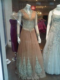 Beautiful anarkali - indian and pakistani bridal dress