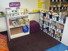 Library with Labels #classroom #library #school