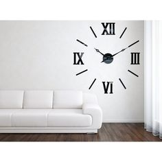 3D Nalepovacie hodiny DIY ADMIRABLE XL SWEEP 40C-1, 100-130cm   nástenné hodiny Wall Clocks, Living Room, Home Decor, Decoration Home, Chiming Wall Clocks, Room Decor, Home Living Room, Drawing Room, Lounge