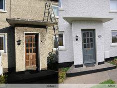 painted pebble dash houses - Cerca con Google