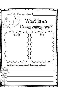 "Ocean Research w/ Ocean Animals Research Writing w/Literacy & Math activities - UPDATE:  ADDED bubble describing charts for each ocean animal!!!!  Every animal has a fact writing chart and a ""can, have, are"" chart, too! :o)"