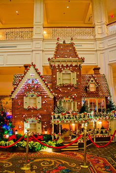 One of my favorite annual traditions- the Grand Floridian Gingerbread House! WDW.