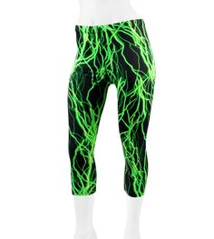Women's Padded Cycling Knickers - In Wild Spandex Prints