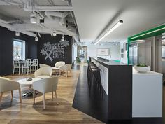 Gensler created a dynamic design for the MakeOffices Clarendon Street coworking space located in Washington DC. The Gensler team, consisting of Design Luxury Vinyl Flooring, Luxury Vinyl Plank, Corporate Interiors, Office Interiors, Cool Office Space, Office Spaces, Best Office, Workplace Design, Coworking Space