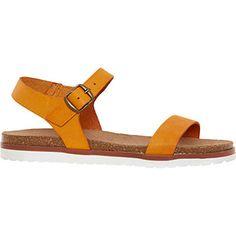 Bonova Orange Leather Strapped Sandals