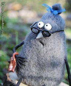 Купить Мымра - валяная игрушка, юмор, лес, лесной, очки, пень, загадочный, мистика