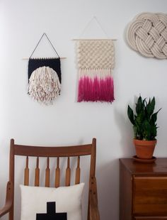 Dyed Textural Weaving  Hand Woven Wall Hanging by SheLovesLife, $90.00