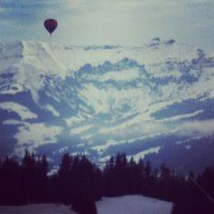 Balloon over Megeve
