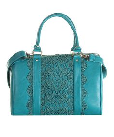 Teal Lace Callie Weekender by Darling on #zulily