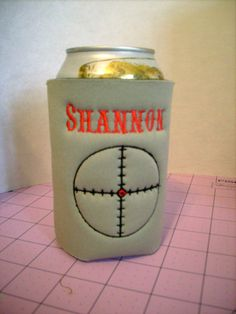 Embroidered  and Personalized CROSSHAIRS KOOZIE Can and Bottle Size Embroidered and Personalized Camo or Solid Colors #etsy #moms