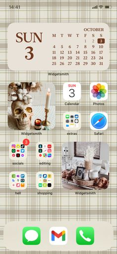 October Sun, Homescreen, Iphone 11, Ios, Layout, Page Layout
