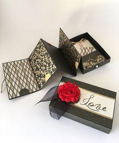 Amor Mini foto álbum, álbum de Matchbox, día de San Valentín, boda, aniversario, Foto caja de la memoria, verdadero amor
