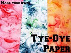 4. Tye-Dye Paper | Community Post: 19 DIYs For The Artist In You
