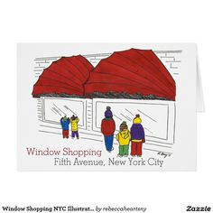 35 best nyc holiday cards images on pinterest nyc holidays window shopping nyc illustrated christmas card m4hsunfo